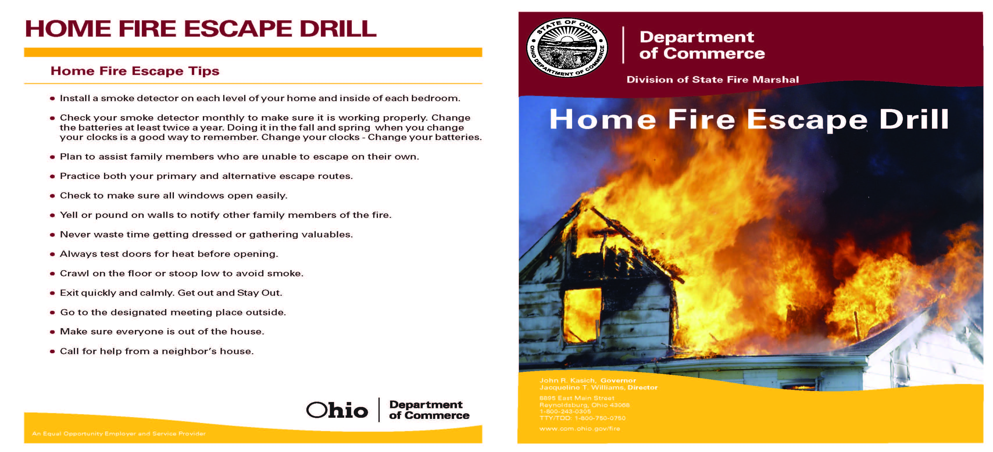 Home Fire Drills page 1