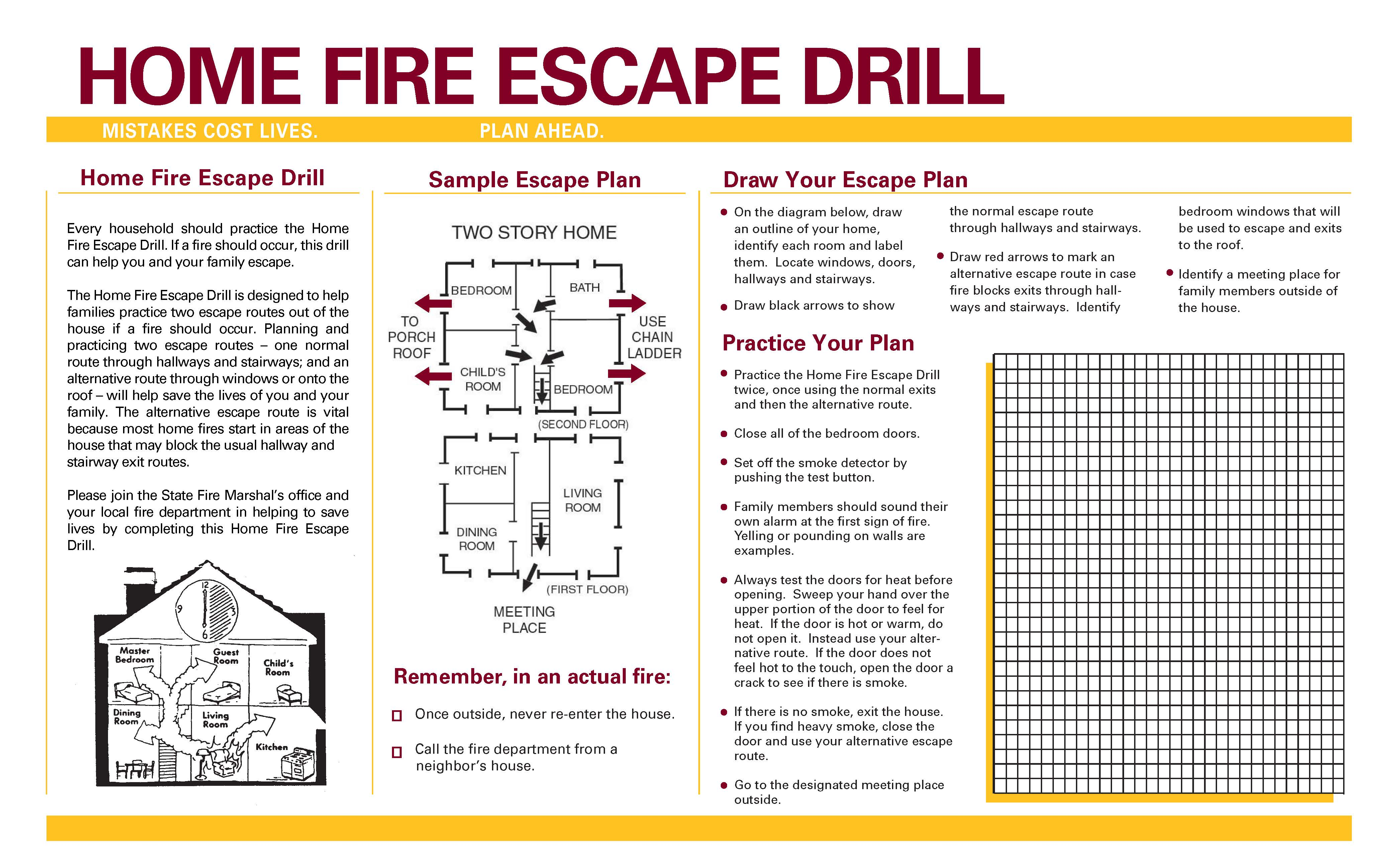 Home Fire Drills page 2